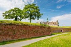 место kronborg helsingor деревушки Дании замока легендарное стоковое изображение