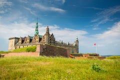 место kronborg helsingor деревушки Дании замока легендарное стоковая фотография