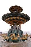 место paris фонтана конкорда стоковое фото