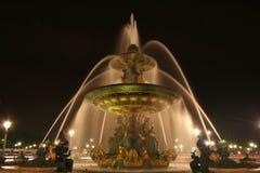 место paris la конкорда de фонтана Франции Стоковые Фото
