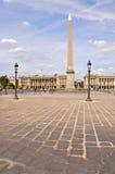 место paris la конкорда de Франции Стоковые Фотографии RF