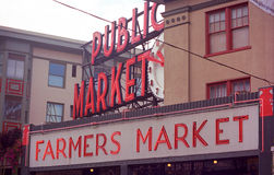 место seattle щуки рынка Стоковая Фотография