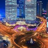 место shanghai ночи Стоковые Изображения