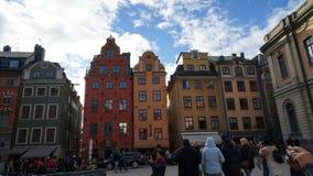 Место Stortorget в Gamla stan, Стокгольме Стоковые Фото