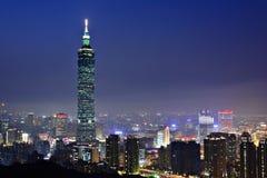 место taipei ночи города стоковые фото