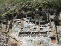 Место Tana Toraja Lemo в Сулавеси Стоковые Фотографии RF