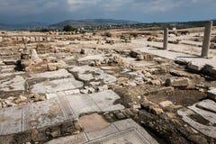 Место Tzipori археологическое Стоковые Изображения