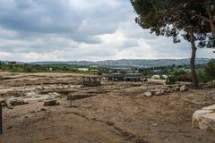 Место Tzipori археологическое Стоковое Изображение