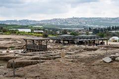 Место Tzipori археологическое Стоковое Фото