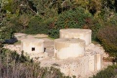Место Unesco Choirokoitia в Кипр Стоковое Фото