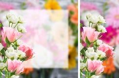 Место witn открытки цветка для вашего текста Стоковое Фото