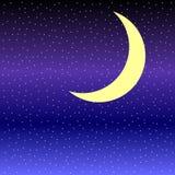 Месяц в небе звездной ночи бесплатная иллюстрация