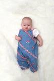месяц девушки младенца 4 старый Стоковое Изображение RF