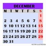 Месяц декабрь 2019 дизайна календаря бесплатная иллюстрация