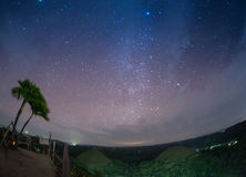 Месяц на небе звезды предпосылки отразил в Стоковые Изображения RF