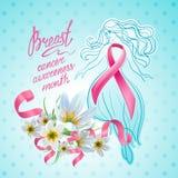 Месяц осведомленности рака молочной железы в октябре Стоковое Изображение RF
