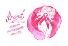 Месяц осведомленности рака молочной железы в октябре Стоковые Изображения RF