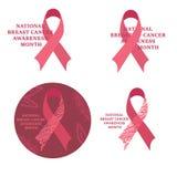Месяц осведомленности рака молочной железы Лента Карциномы Стоковое Фото