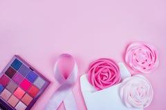 Месяц осведомленности рака молочной железы стоковые изображения rf