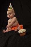 месяц 6 дней рождения Стоковое Изображение RF