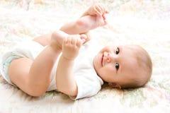 месяц 6 младенца милый Стоковое фото RF