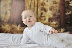 месяц 7 ребёнков старый стоковая фотография rf
