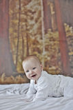 месяц 7 ребёнков старый стоковое фото rf