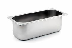 металла льда контейнера магазин cream прямоугольный Стоковые Изображения RF