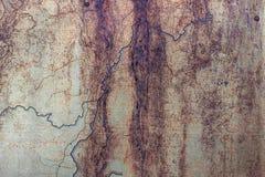 Металлическая заржаветая покрашенная поверхность абстрактная предпосылка Стоковая Фотография