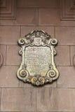 металлическая пластинка дворца архиепископа lima Стоковое Фото