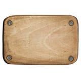 металлическая пластинка деревянная Стоковая Фотография