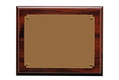 металлическая пластинка пожалования Стоковое Изображение RF