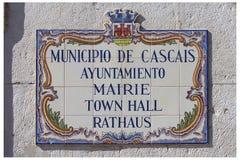 металлическая пластинка Португалия caiscais Стоковое Изображение RF