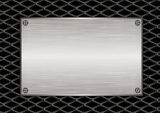 металлическая пластинка решетки диаманта Стоковые Изображения RF
