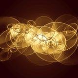 Металлическая предпосылка с кругами Стоковые Изображения RF