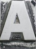Металлическая чернота прописной буквы a Стоковое Изображение