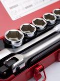 металлические инструменты комплекта Стоковая Фотография RF