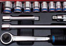 металлические инструменты комплекта Стоковое Фото