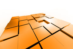 Металлические кубики цвета Стоковые Фото