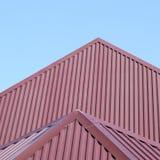 Металлические листы крыши стоковые изображения rf