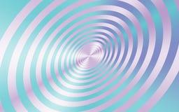 Металлические розовые круги с светом - голубой абстрактной предпосылкой для творческих дизайнов иллюстрация вектора