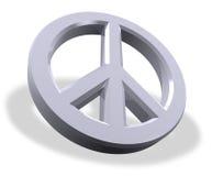 металлический символ мира Стоковые Изображения