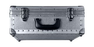 металлический старый чемодан стоковая фотография