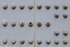 2 металлического листа прикрепленного с болтами и гайками Стоковые Изображения RF