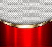Металлическое предпосылки красное Стоковая Фотография