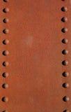 металлопластинчатые заклепки ржавые Стоковая Фотография