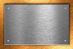 металл бронзы 4 над заклепками плиты Стоковое Изображение