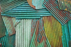 металл волнистого железа ржавый Стоковые Изображения