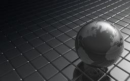 металл глобуса Стоковое Изображение