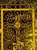 Металл, двери, красивые, часовня, двор, семья, centar, zadar, Хорватия стоковое изображение